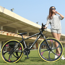 Almacén de rusia y Al Por Mayor de 26 pulgadas y 24 pulgadas 21 velocidad de la rueda integrado bicicleta de montaña en bicicleta Camino cuesta abajo