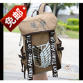 Anime Cosplay Attack on Titan Eren Bag Cartoon Canvas Backpack Shingeki no Kyojin Unisex Schoolbag Shoulders Travel Bags