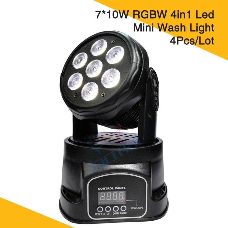 (4Pcs/Lot) Led Mini Moving Head Wash Light 7 * 10W RGBW 4in1 Led Wash Moving Head Dj Club Light(4Pcs/Lot) Led Mini Moving Head Wash Light 7 * 10W RGBW 4in1 Led Wash Moving Head Dj Club Light