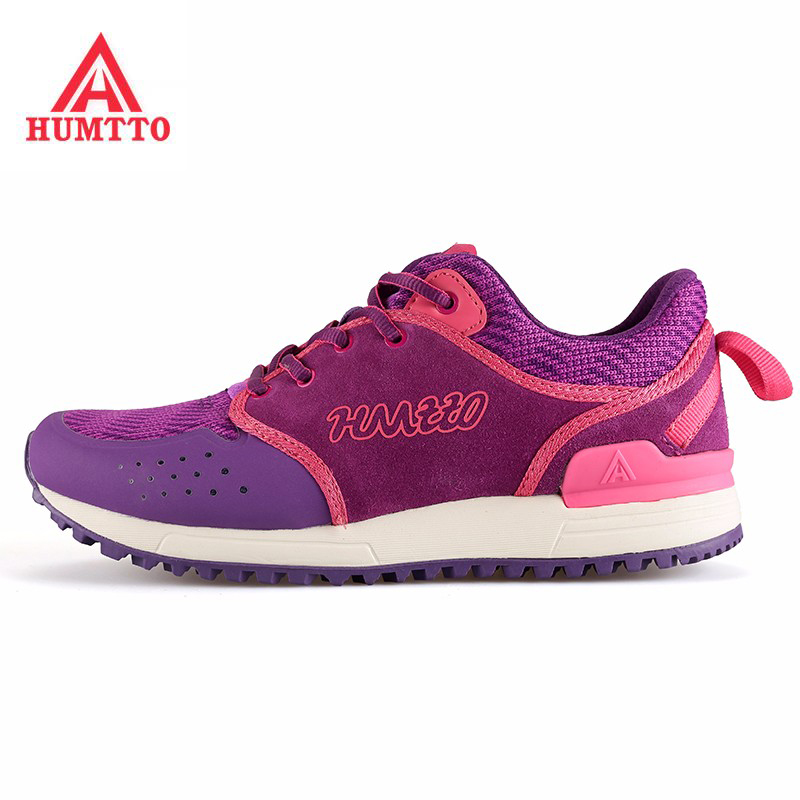 HUMTTO Women's Outdoor Hiking Trekking Sneakers Shoes For Women Sports Mesh + Leather Climbing Mountain Shoes Woman 36-40# humtto outdoor hiking shoes for women breathable men s sneakers summer camping climbing lovers upstream sports man woman brand