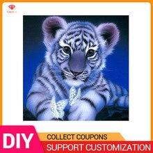 YIKELA алмазная живопись 5D «сделай сам» Вышивка Полный Круглый/квадратный алмаз животных Тигр дома Алмазная вышивка для декора