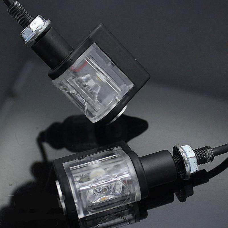 2 Pcs Motorcycle Avio RIZ0MA LED Aluminum Turn Signal Light Indicator Lights Blinker Universal