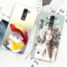 Fashion Cute Cartoon Animals Phone Case For LG Stylus 2 Painted Phone Case For LG Stylus 2 Soft Silicone Full Back Cover(China)