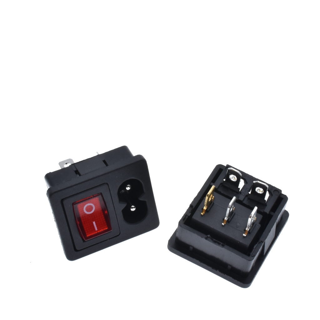 Iec320 C8 Power Cord Inlet Socket Receptacle With On Off