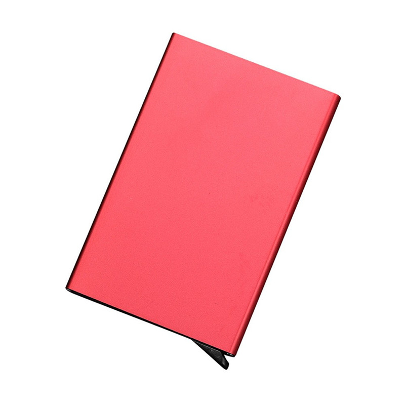Slim Thin Business Card Case PU & Alloy Bank Credit Card Package ...
