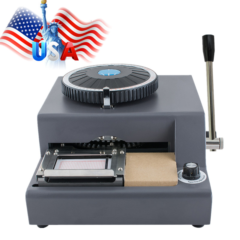 72-Character Letters Manual Embosser Credit ID PVC Card VIP Embossing Machine USA Free Shipping цены онлайн