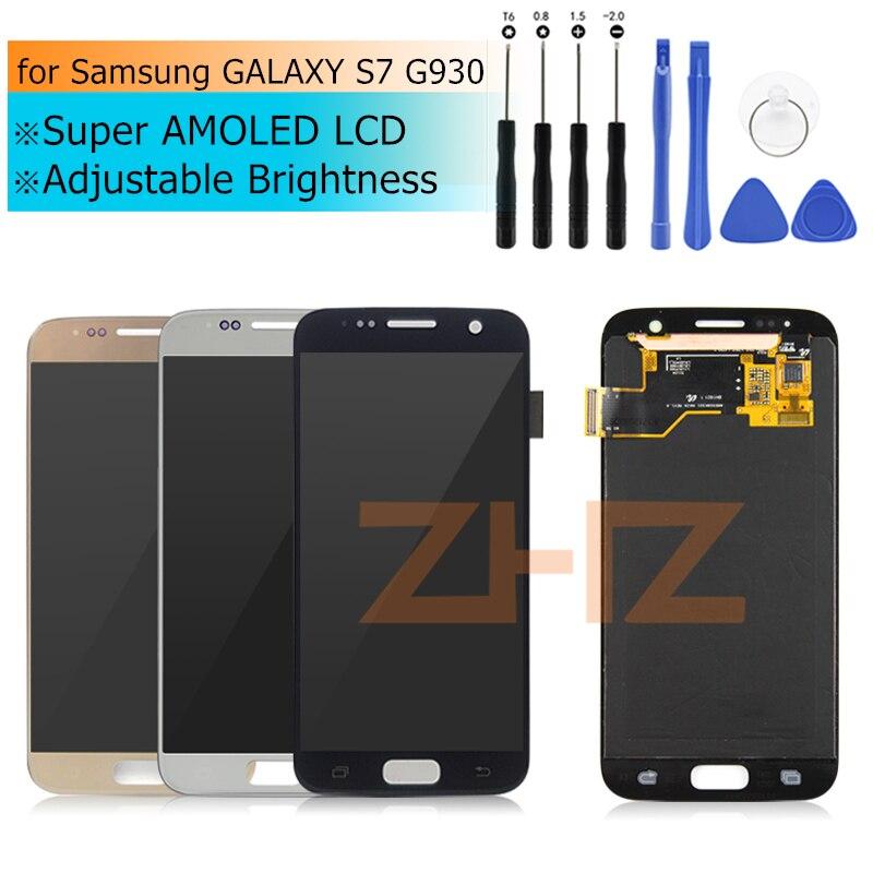 Pour Samsung GALAXY S7 G930 LCD Affichage à L'écran Tactile Digitizer Assemblée pour Samsung S7 G930F LCD Affichage Réparation De Pièces De Rechange