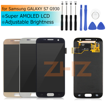 Super amoled for Samsung GALAXY S7 LCD G930 Touch Screen Digitizer Assembly for Samsung S7 LCD G930F Repair Spare Parts tools