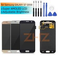 Super amoled para Samsung GALAXY S7 LCD G930 digitalizador de pantalla táctil asamblea para Samsung S7 LCD G930F Reparación de espaã a herramientas