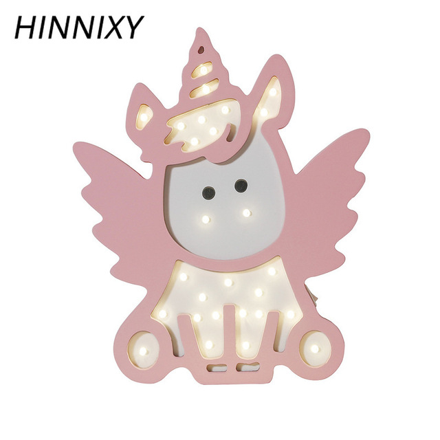 LED night lamp unicorn /Lampara de noche LED unicornio