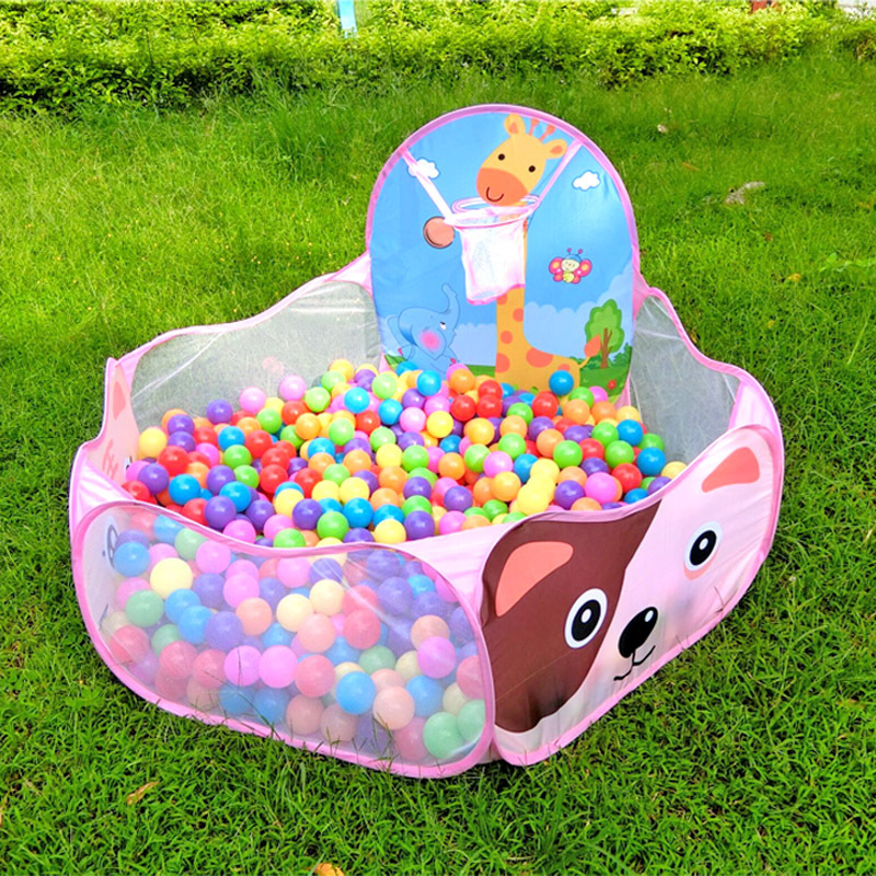 Baby Playpen 1.2M Baby Playpen Toys Fencing For Children Portable Game Tent Indoor/Outdoor Folding Kids Cartoon Ocean Balls Pool
