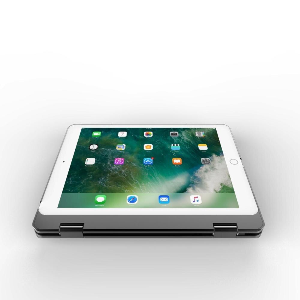 תאורה אחורית Case מקלדת Bluetooth אלחוטית עבור iPad Air 2 1 9.7 אינץ 2018 עם תאורה אחורית LED צבעוני (4)