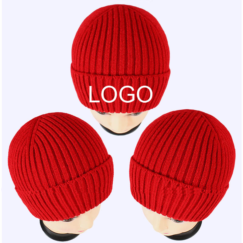 Free Embroidery LOGO Winter Beanies Adult Elastic skull caps Custom Letters Hat Women Warm Beanie Thickness Hiphop Knitted Hats