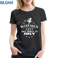 Brand Clothes Summer 2017 Gildan Woman Witches Are Born In July 1937 Funny 80Th Birthday Gift