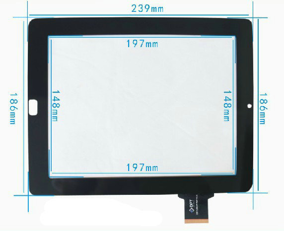 New Capacitive touch screen touch panel digitizer glass for 9.7' inch Ritmix RMD-1035 RMD1035 Tablet Free Shipping replacement lcd digitizer capacitive touch screen for lg vs980 f320 d801 d803 black