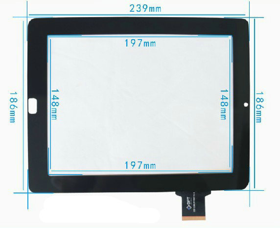 New Original Capacitive touch screen touch panel digitizer glass for 9.7' inch Ritmix RMD-1035 RMD1035 Tablet Free Shipping