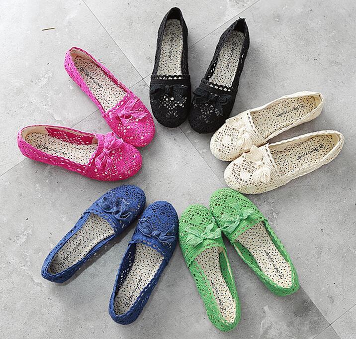on 2017 Bowtie Mocasines Pisos Fenty 1 Calidad Mujeres Las Superior 2 Slip Encaje 5 Ballet Bailarinas Zapatos Señoras 3 Mujer 4 Casual De rnvw8aq4Yr