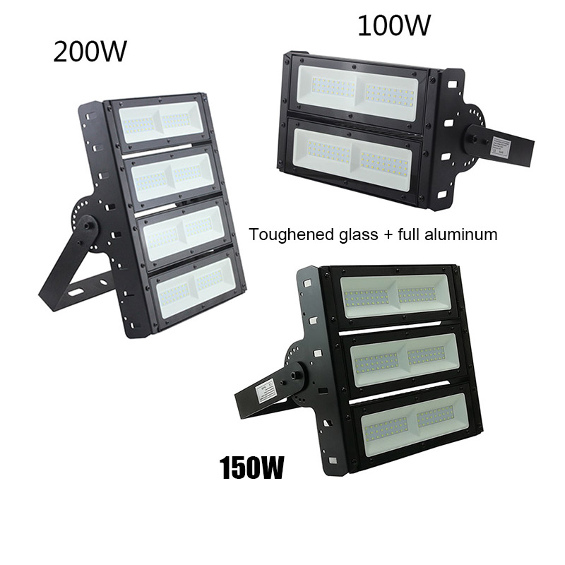 Multi Angle Flexible Adjustment Module Toughened Glass SMD3030 LED Light Fixture Outdoor Super Bright Industrial Lamp