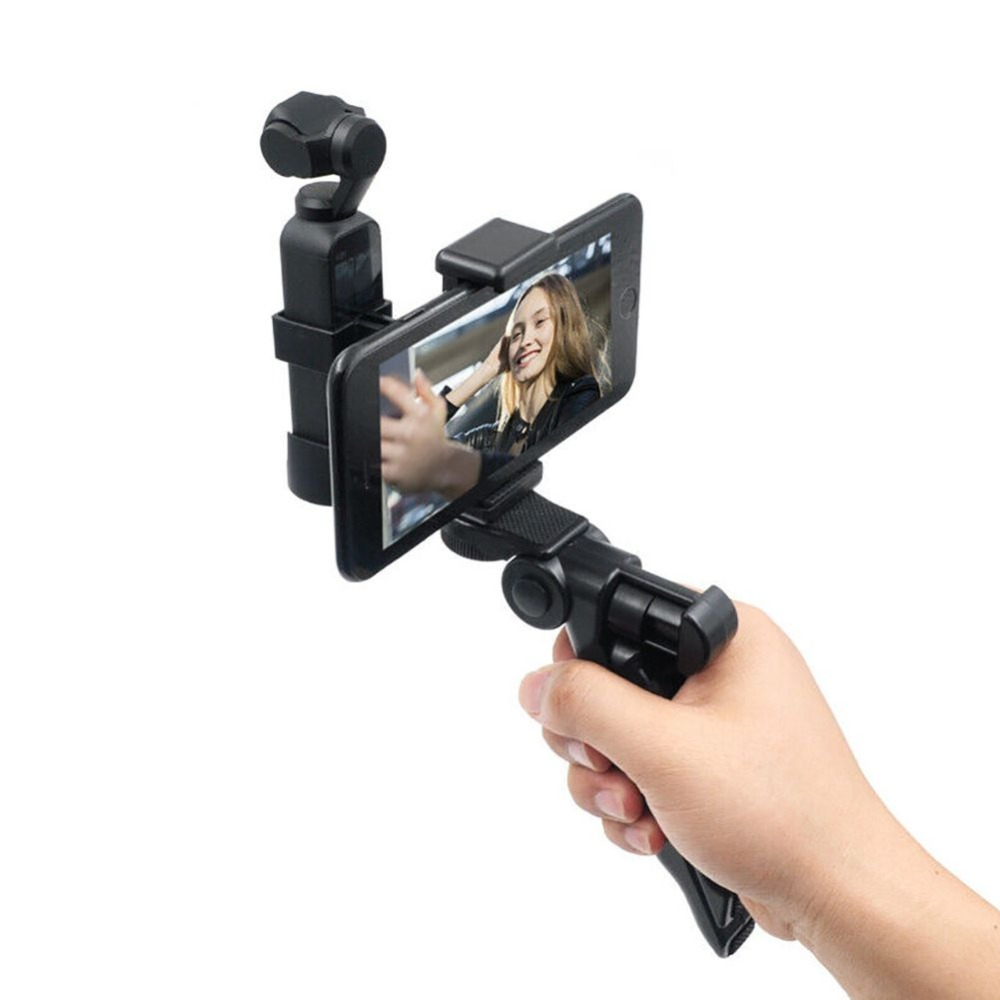Hot Foldable Phone Holder Tripod Clip Handle Grip 1/4 Adapter Mount Bracket For DJI OSMO Pocket Handheld Gimbal Accessories