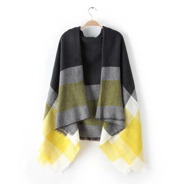 za Winter 2016 font b Tartan b font Scarf fashion Plaid Scarf Women Blanket Oversized Wrap