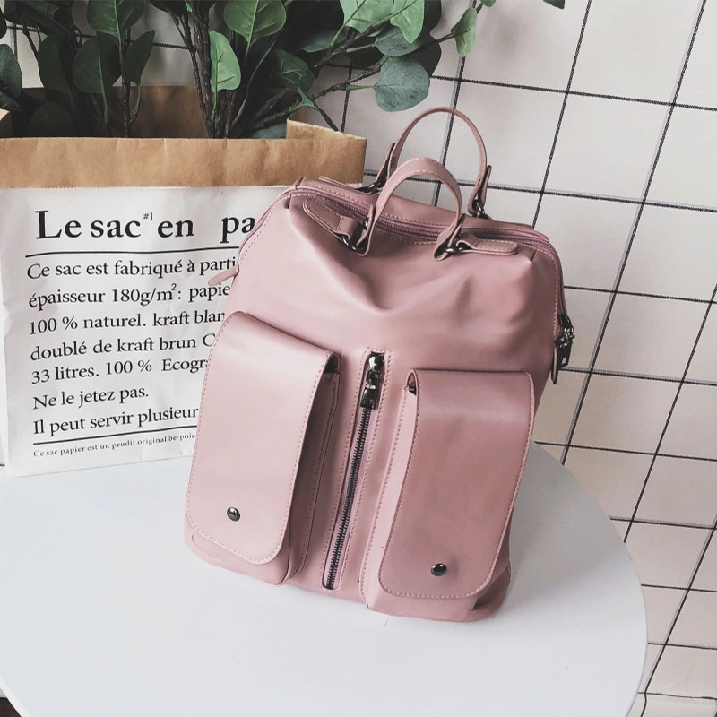 Anreisha 2018 Newest Design Women Backpack Bags High Quality PU Leather College School Bag Backpacks Women Female Casual Bagpack hot sale women s backpack the oil wax of cowhide leather backpack women casual gentlewoman small bags genuine leather school bag