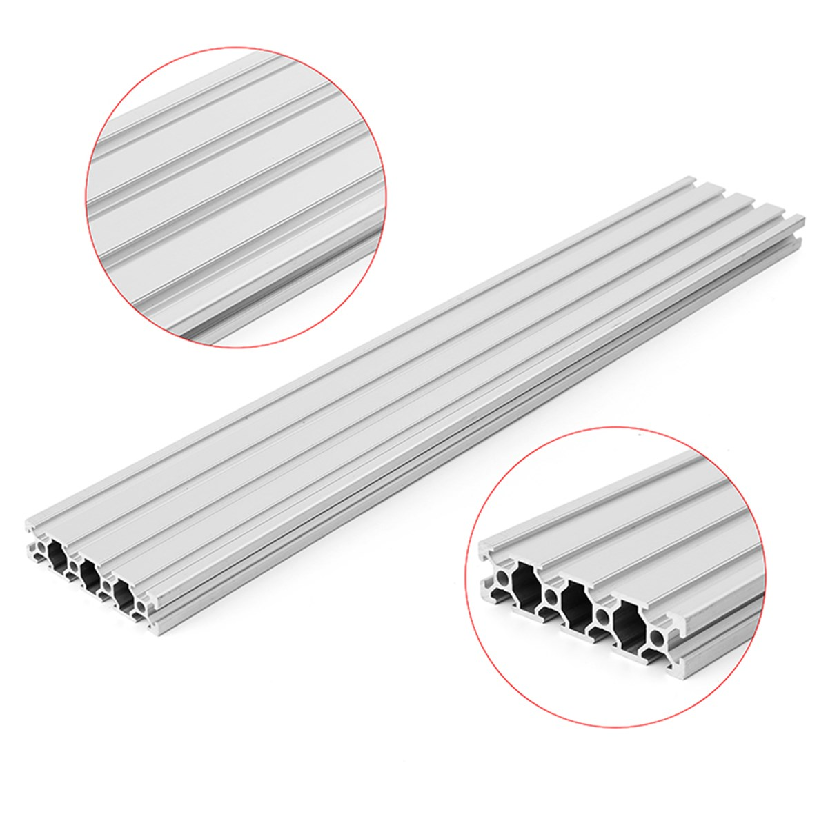 SULEVE New 1PC HL2080 350mm/500mm Length <font><b>2080</b></font> T-Slot Aluminum Profiles Extrusion Frame For CNC 3D Printer Parts DIY High Quality image