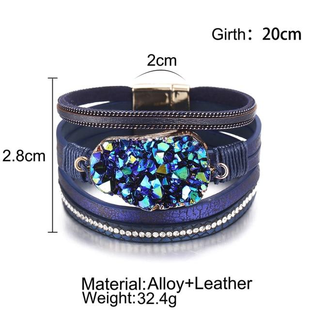 Big Stone Crystal Wrap Bracelets Bangles 5