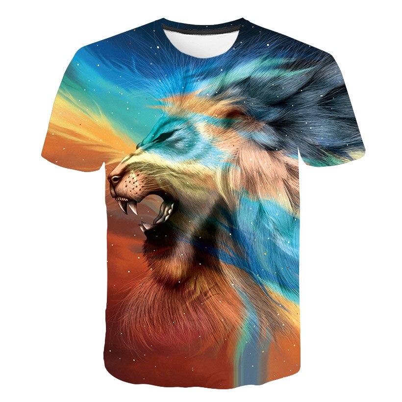 2019 Newest Harajuku Lion 3D Print Cool T shirt Men Women Summer Tops Tees T shirt Fashion Casual Animal T shirts M 5XL in T Shirts from Men 39 s Clothing