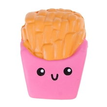 1pc French Fries Squishy Slow Elastic PU Stress Relief AntiStress Kawaii Cute Kids Toy Gift Squeeze Toys