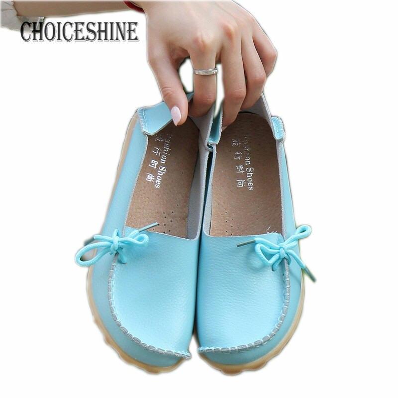 2017 Mujeres de Cuero Reales Zapatos Mocasines Madre Mocasines Soft Ocio Calzado