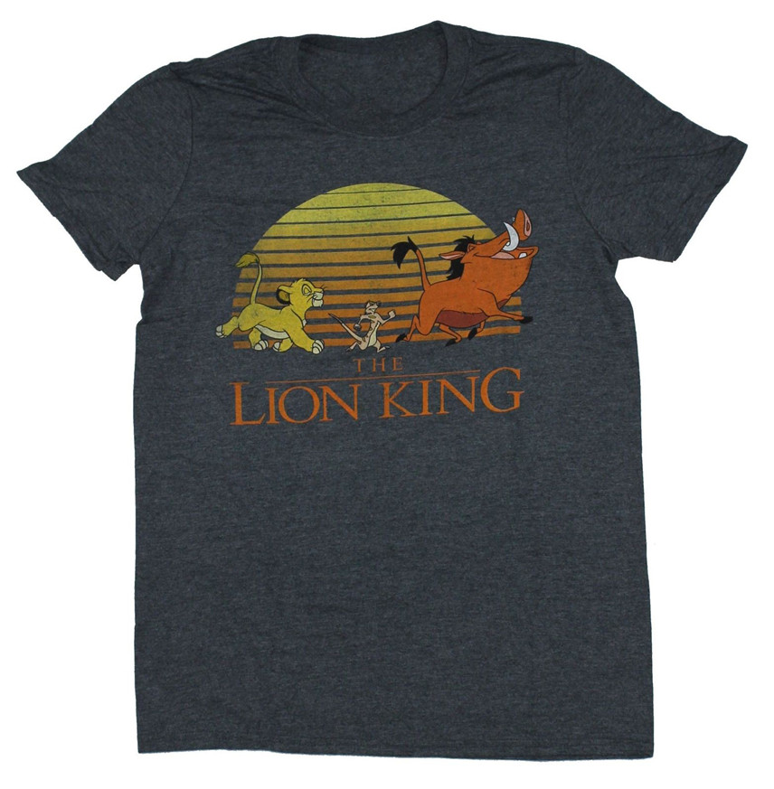 The Lion King Mens T Shirt Distressed Full Color Sunset March Birthday Gift T-shirt Men Unisex New Fashion Tshirt