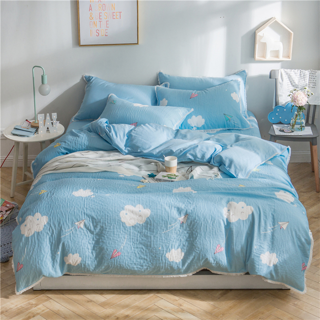 100 Cotton Twin Queen King Bedding Set For Children Kids Cute Bed