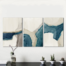 HDARTISAN Wall Art Painting Canvas Picture Abstract Print Blue River For Living Room Home Decor No Frame(China)