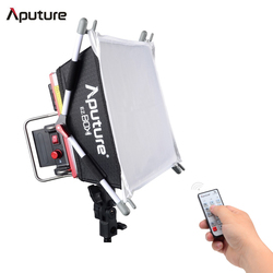 Aputure Amaran Tri-8S Daylight Dimmable Led Video Light Panel w/ EZ Box Diffuser Two Batteries 2.4G Remote Controllers -V Mount