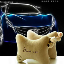 car pillow neck Cartoon 2pcs/lot FREE SHIPPING