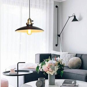 Image 4 - Loft Vintage Lampada A Sospensione Dia 250 millimetri E27 di Alluminio, Metallo, Ferro Retro Nord Europa Stile Industriale Edison Lampade a sospensione
