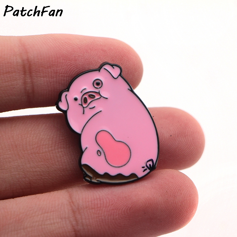 A0008 patchfan 20 шт./лот patchfan довольно аниме мультфильм Гравити Фолз розовый поросенок контактный брошь значок decoreation Интимные аксессуары