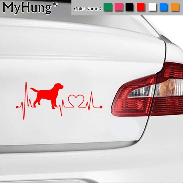 17 8 7 8 Cm Labrador Hund Retriever Herzschlag Lebensader Auto