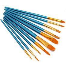 10 шт./лот, нейлоновая деревянная ручка, набор кистей для рисования акварелью, инструмент для рисования, высокое качество#824, Новинка