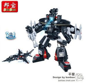Banbao Model building kits compatible with lego city Robot Fighter 2in1 1013 3D blocks Educational toys hobbies for children