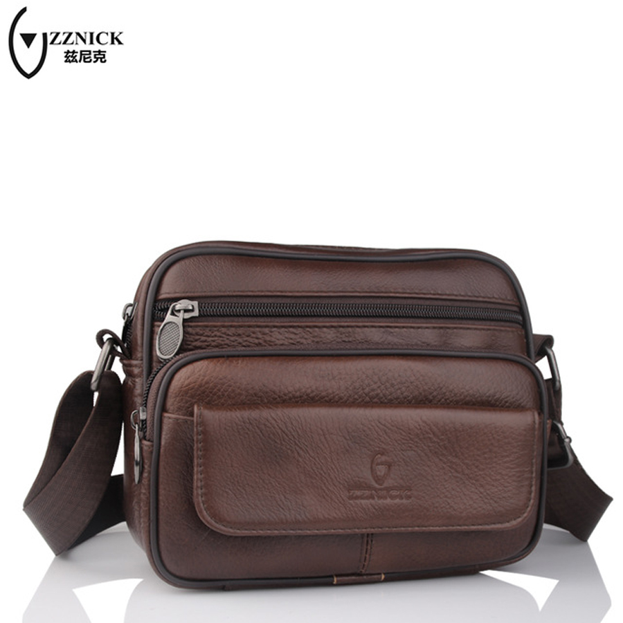 ZZNICK Cow Genuine Leather Messenger Bags Men Travel Business Crossbody Shoulder Bag for Man Sacoche Homme Bolsa Masculina  8007 cow genuine leather messenger bags men casual travel business crossbody shoulder bag for man sacoche homme bolsa masculina