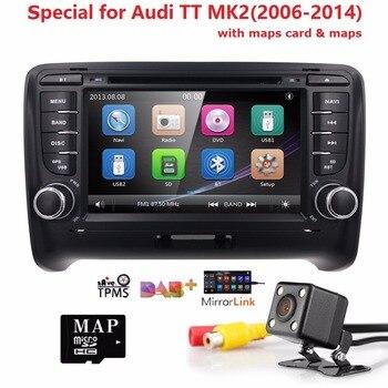 7''For AUDI TT MK2 Car DVD GPS Stereo Player Head Unit 2006-2014 Bluetooth Mirroring LINK DAB+TPMS DTV RDS FM CAM MAP SD CARD BT