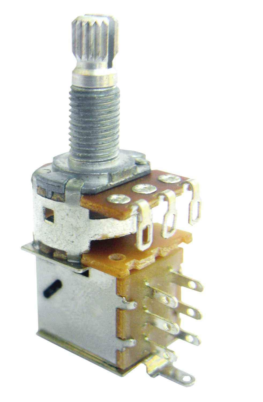 Empuje de Audio de 10K 25K 50K 100K 250K 500K sin Central haga clic en Cambiar potenciómetro DPDT