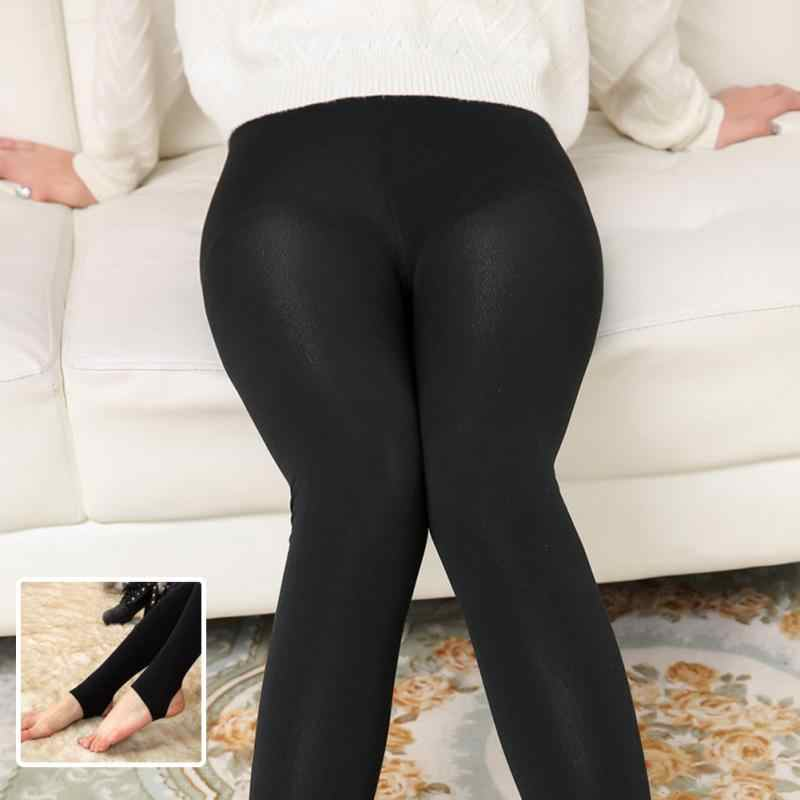 c2cce83adee33 ... 3 Types Fashion Women's Spring Seamless Brushed Stretch Soft Fleece  Lined Thick Leggings High Elastic Warm