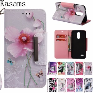 For LG K10 2018 K30 LG K8 2018 LG Q Stylus Qstylus L G Stylo 4 Flip Wallet Patterned Magnet Clasp PU Leather TPU Phone Cover DGT