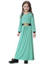 Traditional Muslim Dubai Saudi Arabia Kids Clothing Fashion Child Abaya Muslim Girl Dress and Abaya Islamic Children Dresses