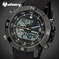 Infantry hombres relojes de hora dual análogo-digital de lujo reloj hombre militar deportes cronógrafo de cuarzo reloj de pulsera relogio masculino