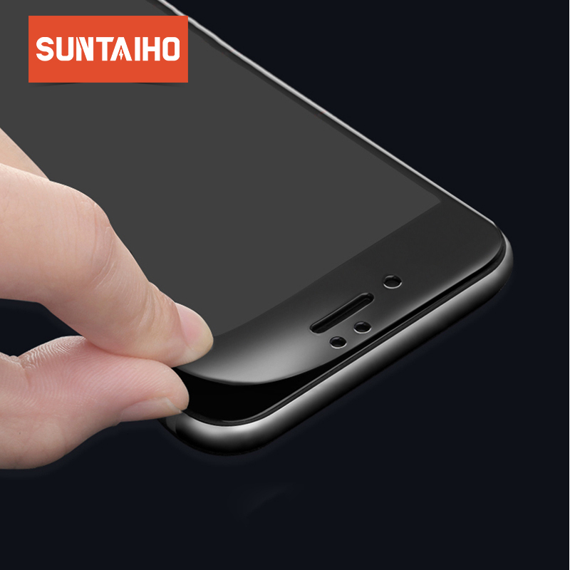 Suntaiho Tempered Glass For iPhone XR XsMax 6 6s Soft 3D Curved Full Cover Protective Toughened Glass Film For iPhone 8 7 Plus