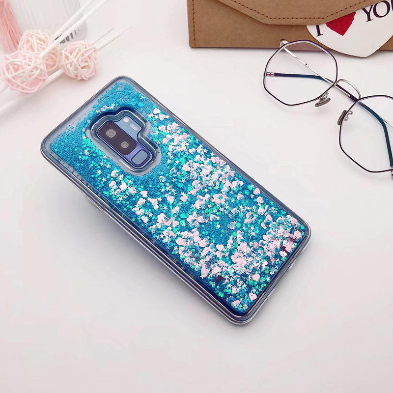 for Samsung Galaxy S9 case Back cover Bling Glitter Dynamic Quicksand Liquid Case for samsung S9 plus cover Galaxy S9 coque (8)