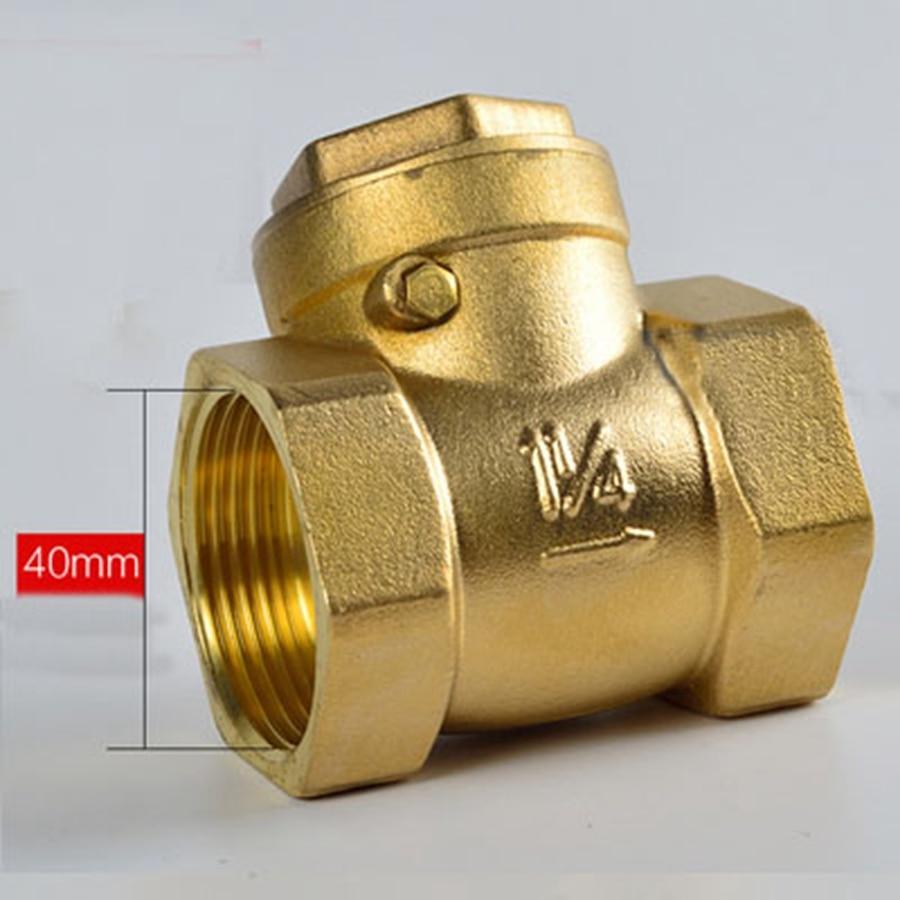 Sanitär Dn32 G1-1/4 bspp Innengewinde Messing Schaukel Überprüfen Ventil Eine Möglichkeit Thickneess 4mm Länge 65mm Ventil
